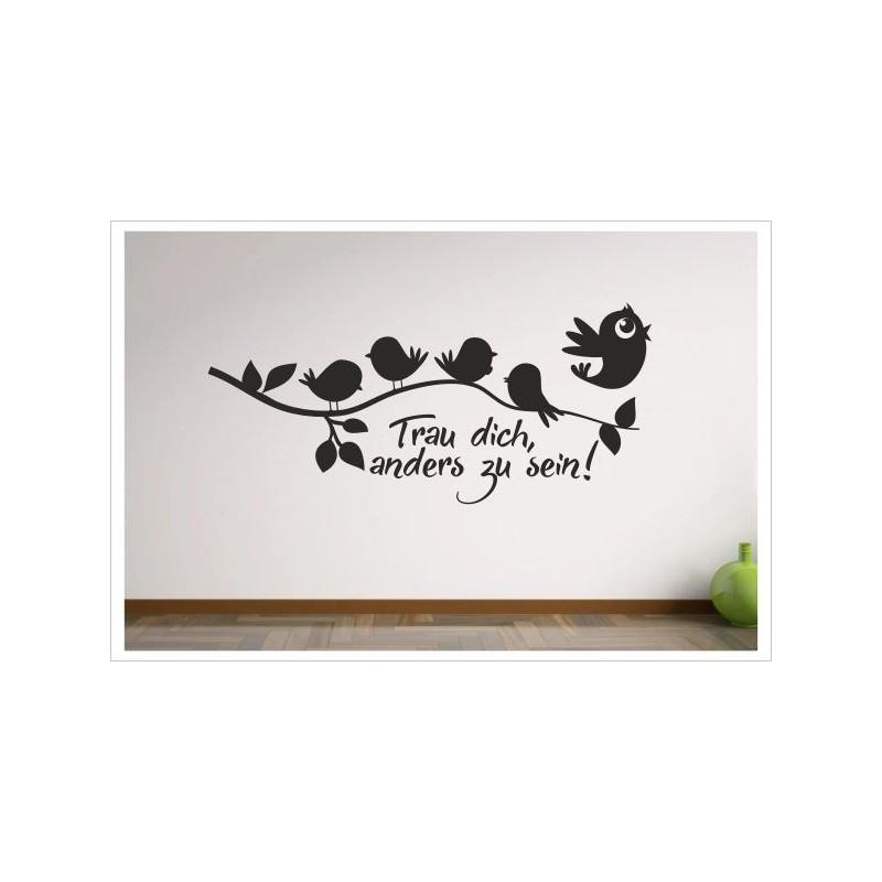 Schlafzimmer Trau Dich anders zu sein! Vögel Leine Vogel Draht ...