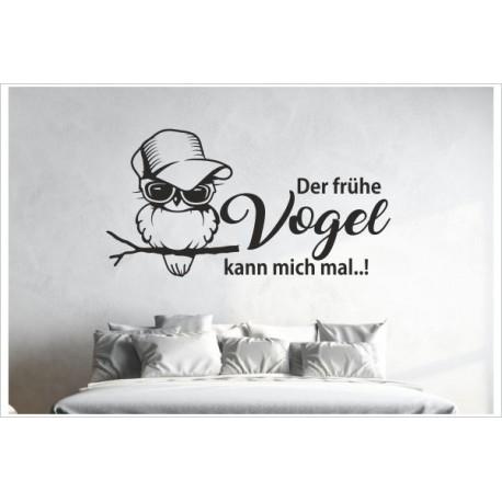 Tattoo Aufkleber Wand Schlafzimmer Der Fruhe Vogel Kann Mich Mal