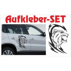 Offroad Motive Aufkleber SET 4x4 Safari Gelände Land Bär Tattoo Tribal