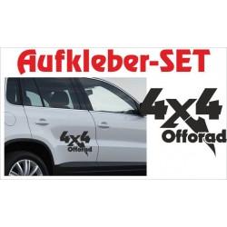 Offroad Motive Aufkleber SET 4x4 Safari Gelände 4x4 Schriftzug Tattoo Sticker