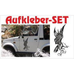 Offroad Motive Aufkleber SET 4x4 Safari Gelände Land Adler Schlange Tattoo Sticker