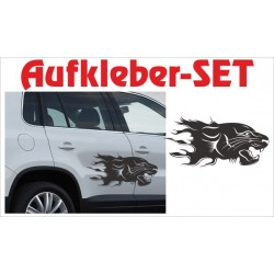 Offroad Motive Aufkleber SET 4x4 Safari Gelände Leopard Wildnis Jaguar