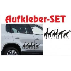 Offroad Motive Aufkleber SET 4x4 Safari Gelände Land Afrika Wildnis Giraffe