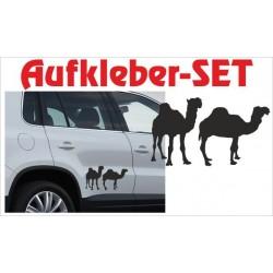 Offroad Motive Aufkleber SET 4x4 Safari Gelände Land Afrika Kamele Kamel Savanne