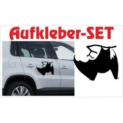 Offroad Motive Aufkleber SET 4x4 Safari Gelände Land Maus Fledermaus