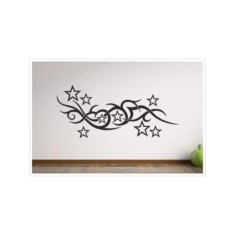 Wohnzimmer tattoo tribal sterne stars aufkleber dekor - Wohnzimmer tattoo ...