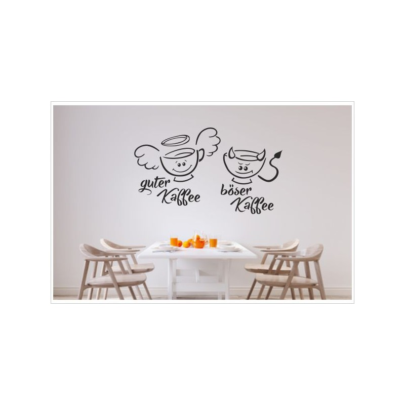 k che esszimmer kaffee tassen guter b ser kaffee dekor aufkleber dekor wandtattoo. Black Bedroom Furniture Sets. Home Design Ideas