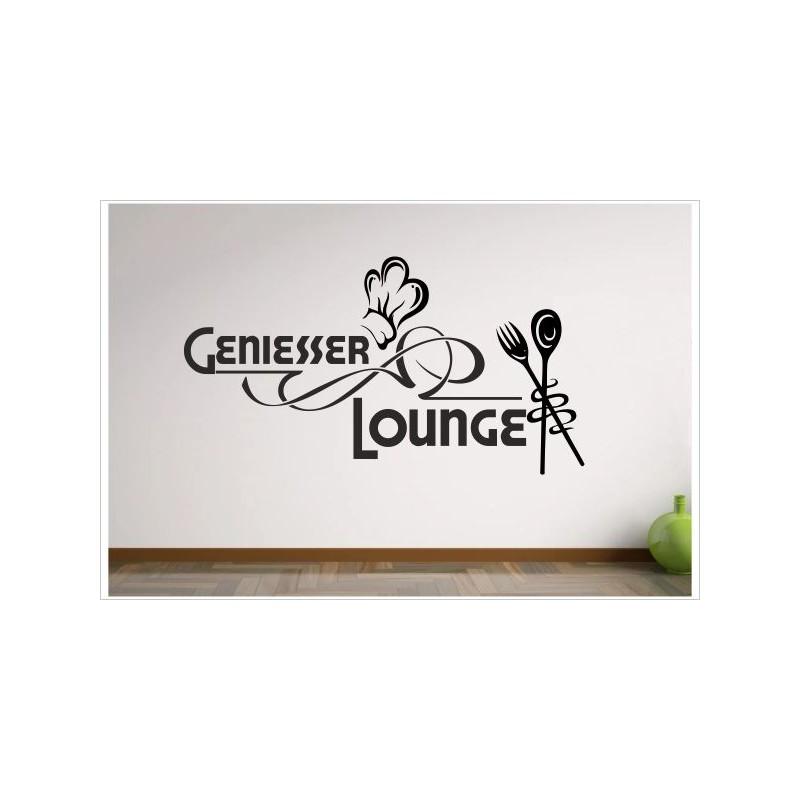 Küche Esszimmer Koch & Löffel Genießer Lounge Dekor Aufkleber Dekor ...