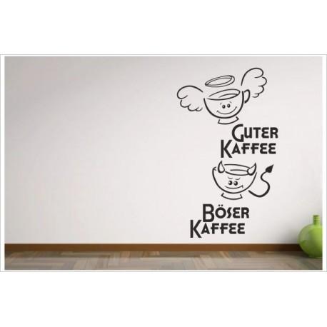 Kuche Esszimmer Guter Kaffee Boser Kaffee Lustige Tassen Aufkleber Dekor Wandtattoo Wandaufkleber Der Dekor Aufkleber Shop