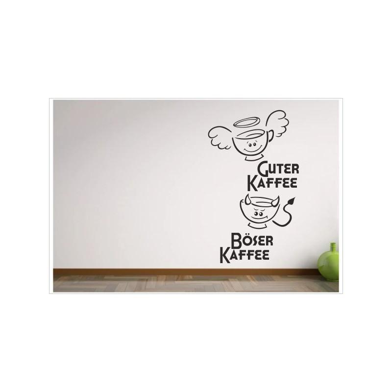 Küche Esszimmer Guter Kaffee & Böser Kaffee Lustige Tassen Aufkleber Dekor  Wandtattoo Wandaufkleber - Der Dekor Aufkleber Shop