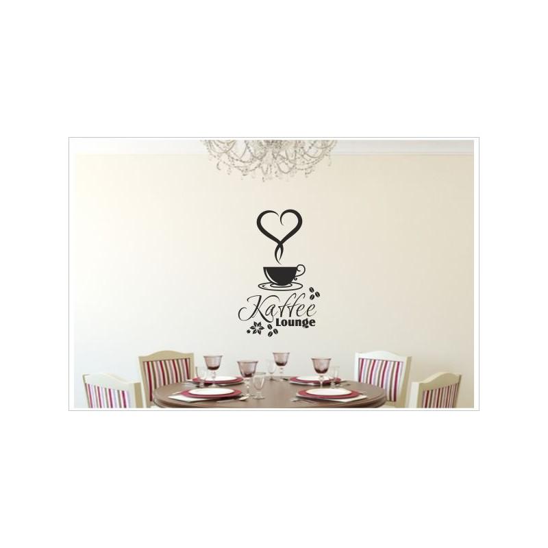 Küche Esszimmer MINI Kaffee Lounge Herz Tasse Dekor Aufkleber Dekor  Wandtattoo Wandaufkleber - Der Dekor Aufkleber Shop