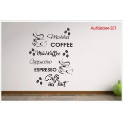 Schon Finest Kaffee Set Stck Coffee Cappuccino Kche Esszimmer Dekor Wandtattoo  With Wandtattoo Kche Kaffee With Kche