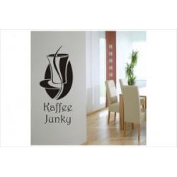 Kaffee Junky Wandaufkleber Wandtattoo Aufkleber Küche Essen Genießen Kochen
