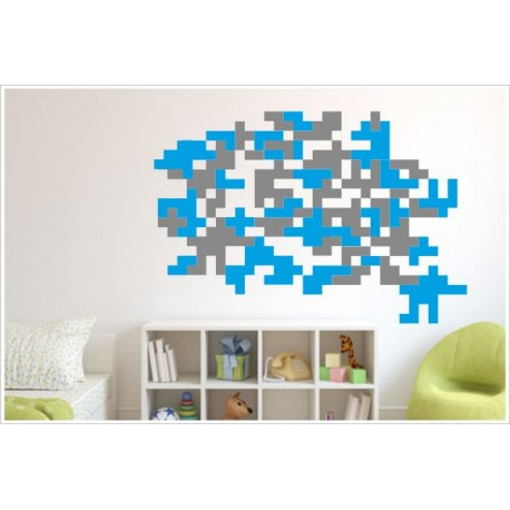 Camouflage Wandtattoo Wandaufkleber Set Pixel Cyber Xxl Ecken Aufkleber Sticker Der Dekor Aufkleber Shop