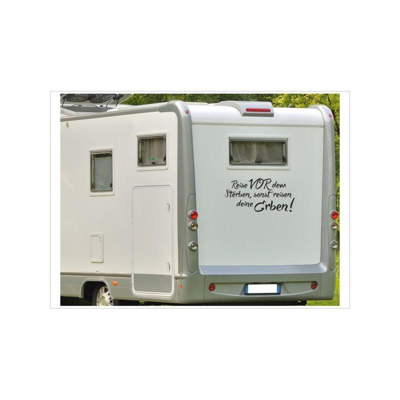 Wohnmobil Aufkleber Reise Vor Dem Sterben Spruch Wohnwagen Caravan Camper Woma Der Dekor Aufkleber Shop