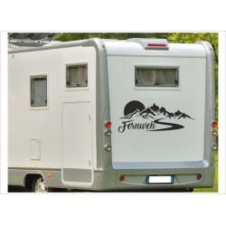 Wohnmobil Aufkleber Fernweh Berge Alpen Sonne Landschaft  Wohnwagen Caravan Camper WOMA