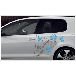 Car Style Tattoo Tribal Auto Aufkleber SET 2 farbig Ast Baum Vogel Spatz Dekor Seitenaufkleber Autobeschriftung Seitendekor