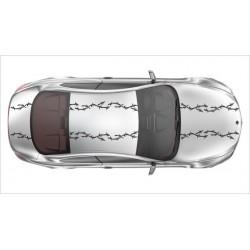 Rennstreifen Viper Streifen Dekor Streifen Racing Stacheldraht Draht  Tuning 8m je 14,4 cm