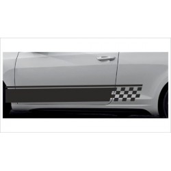 2x Dekorstreifen Seitenaufkleber Rennstreifen Viper Race Tuning Aufkleber