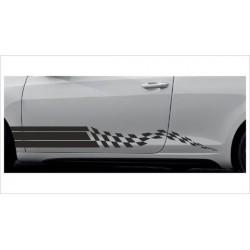 2x Dekorstreifen Seitenaufkleber Rennstreifen Viper Race Tuning Aufkleber Auto