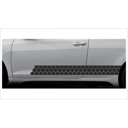 2x Dekorstreifen Seitenaufkleber Rennstreifen Viper Waben Muster  Race Tuning Aufkleber Auto