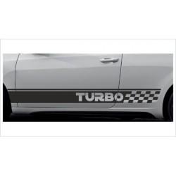 2x Dekorstreifen Seitenaufkleber Rennstreifen Viper Racing TURBO Tuning Aufkleber Auto