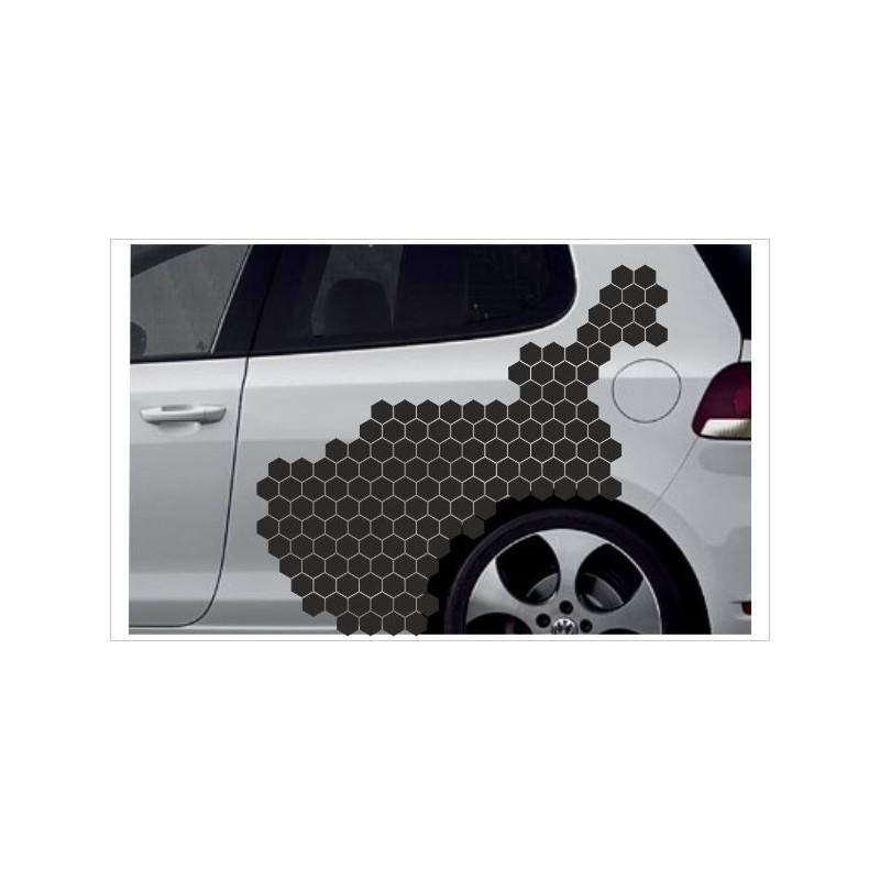 Camouflage Auto Aufkleber Set Cyber Pixel Tattoo Sticker Tuning
