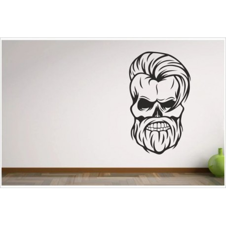 Wohnzimmer Hipster Man Bad Boy Totenkopf Skull Aufkleber Dekor Wandtattoo  Wandaufkleber