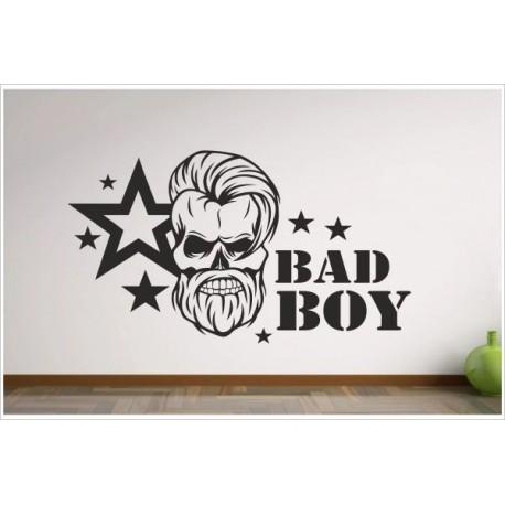 Wohnzimmer Bad Boy Hipster Totenkopf Sterne SKULL Aufkleber Dekor  Wandtattoo Wandaufkleber