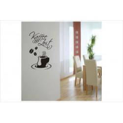 Kaffee Zeit Wandaufkleber Wandtattoo Aufkleber Küche Essen Genießen Kochen
