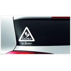 Babyaufkleber Auto Aufkleber ACHTUNG + Wunschname  Baby on Tour on Board Sticker  Farbe & Name wählbar