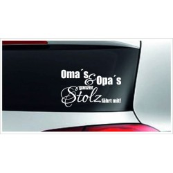 Babyaufkleber Auto Aufkleber Oma & Opa Baby on Tour on Board Sticker  Farbe wählbar