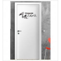 Traum Fabrik Wandaufkleber Aufkleber Tür Zimmer Schriftzug Träumen Dreams Schlafen