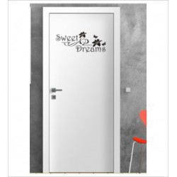 Sweet Dreams Wandaufkleber Aufkleber Tür Zimmer Schriftzug Schlafen Träumen Sweet Dreams