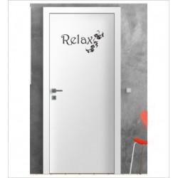 Relax Wandaufkleber Aufkleber Tür Zimmer Schriftzug Entspannen Baden Bad Erholung