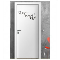 Guten Appetit Wandaufkleber Aufkleber Tür Zimmer Schriftzug Küche Kochen Essen Genießen