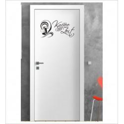 Kaffee Zeit Wandaufkleber Aufkleber Tür Zimmer Schriftzug Küche Tasse
