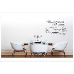 Kaffee 10 Schriftzüge Wandaufkleber Wandtattoo Aufkleber Küche Essen Genießen Kochen