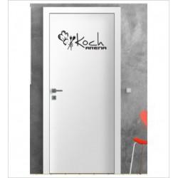 Koch Arena Wandaufkleber Aufkleber Tür Zimmer Schriftzug Küche Essen Kochen Genießen Schlemmen