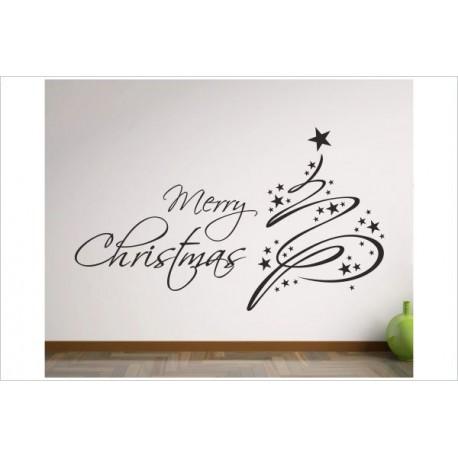 Frohe Weihnachten Aufkleber.X Mas Aufkleber Weihnachtsbaum Schmuck Sterne Frohe Weihnachten Merry Christmas Wandaufkleber Wandtattoo Fenster Der Dekor Aufkleber Shop